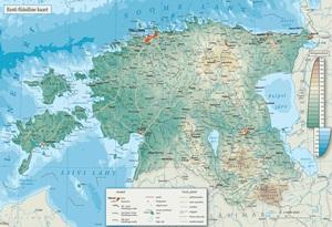 Eesti füüsiline kaart